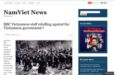 http://namvietnews.wordpress.com/2011/05/04/bbc-vietnamese-staff-rebelling-against-the-vietnamese-government/