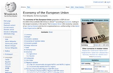 http://en.wikipedia.org/wiki/Economy_of_the_European_Union