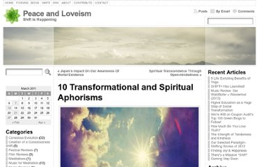 http://peaceandloveism.com/blog/2011/03/10-transformational-and-spiritual-aphorisms/