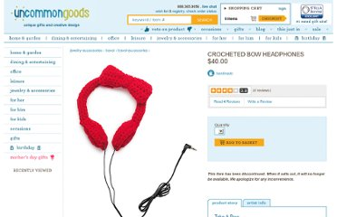 http://www.uncommongoods.com/product/crocheted-bow-headphones
