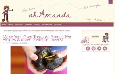 http://impressyourkids.org/make-your-own-treasure-stones-for-pirates-other-treasure-lovers/