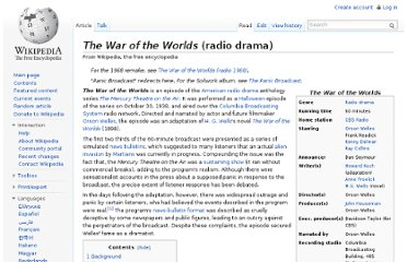 http://en.wikipedia.org/wiki/The_War_of_the_Worlds_(radio_drama)