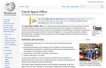 http://en.wikipedia.org/wiki/Czech_Space_Office