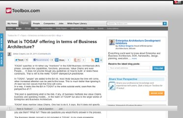 http://it.toolbox.com/blogs/ea-matters/what-is-togaf-offering-in-terms-of-business-architecture-46819