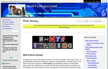 http://webtools4u2use.wikispaces.com/Photo+Sharing?responseToken=026ddeba5560a1b88f87a9a012cd69d6a