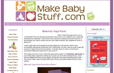 http://www.make-baby-stuff.com/maternity-yoga-pants.html
