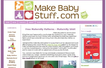 http://www.make-baby-stuff.com/maternity-patterns.html