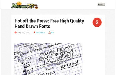 http://www.modny73.com/graphics/hot-off-the-press-free-high-quality-hand-drawn-fonts/
