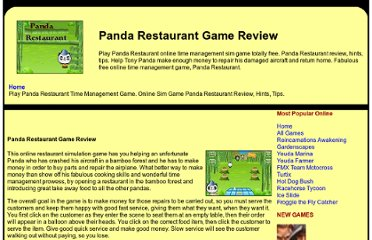 http://www.itexpressions.com/freetimemanagement/pandarestaurant.shtml