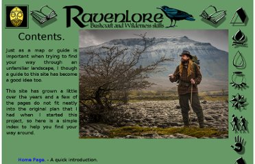 http://www.ravenlore.co.uk/html/site_map.html