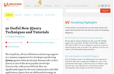 http://coding.smashingmagazine.com/2009/08/23/50-useful-new-jquery-techniques/