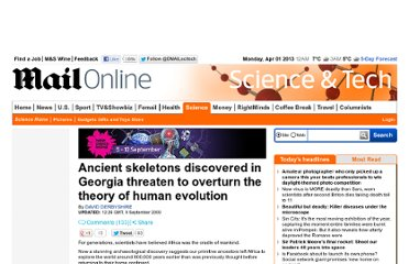 http://www.dailymail.co.uk/sciencetech/article-1212060/Ancient-skeletons-discovered-Georgia-threaten-overturn-theory-human-evolution.html