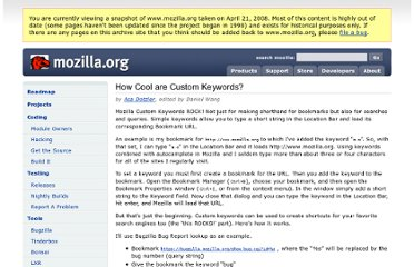 http://www.mozilla.org/docs/end-user/keywords.html