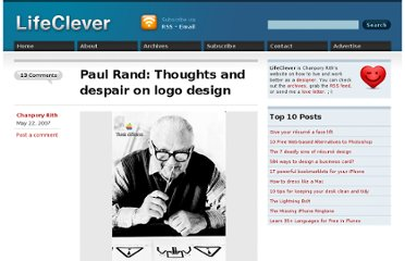 http://www.lifeclever.com/paul-rand-thoughts-and-despair-on-logo-design/