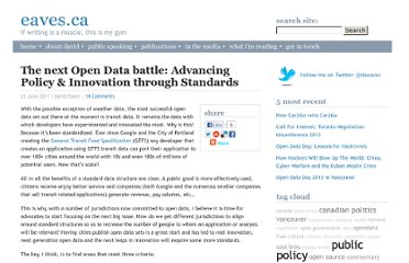 http://eaves.ca/2011/06/23/the-next-open-data-battle-advancing-policy-innovation-through-standards/