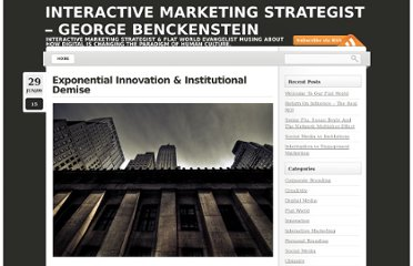 http://www.benckenstein.com/creativity/exponential-innovation-institutional-demise/