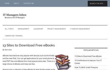 http://itmanagersinbox.com/1875/13-sites-to-download-free-ebooks/