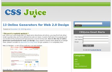 http://www.cssjuice.com/13-online-generators-for-web-20-design/
