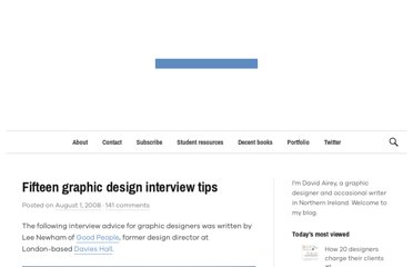 http://www.davidairey.com/15-graphic-design-interview-tips/