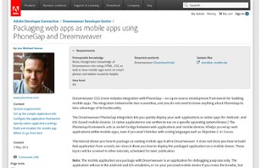 http://www.adobe.com/devnet/dreamweaver/articles/packaging-web-applications-as-mobile-apps.html