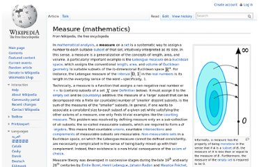 http://en.wikipedia.org/wiki/Measure_(mathematics)