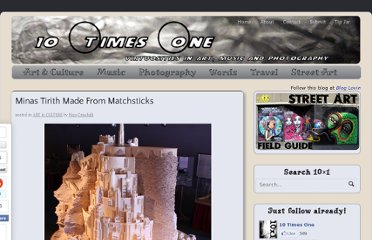 http://www.tentimesone.com/minas-tirith-made-from-matchsticks/