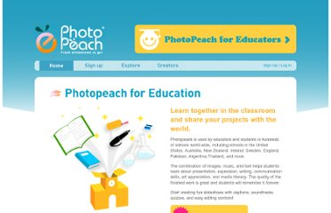http://photopeach.com/education