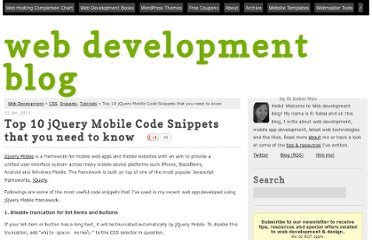 http://eisabainyo.net/weblog/2011/01/31/top-10-jquery-mobile-code-snippets-that-you-need-to-know/