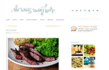http://shewearsmanyhats.com/2011/06/skirt-steak/