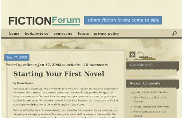 http://www.fictionforum.net/writers/articles/starting-your-first-novel-112.html
