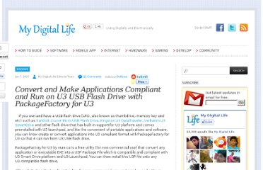 http://www.mydigitallife.info/convert-and-make-applications-compliant-and-run-on-u3-usb-flash-drive-with-packagefactory-for-u3/