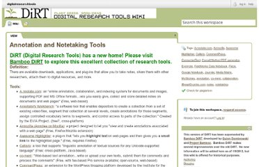 http://digitalresearchtools.pbworks.com/Annotation+and+Notetaking+Tools