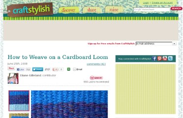 http://www.craftstylish.com/item/2546/how-to-weave-on-a-cardboard-loom/page/all