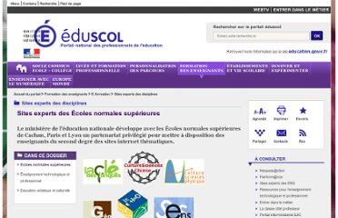 http://eduscol.education.fr/cid45856/sites-experts-ens.html