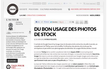 http://owni.fr/2011/06/28/du-bon-usage-des-photos-de-stock/
