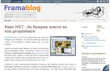 http://www.framablog.org/index.php/post/2009/12/20/paint-net-change-de-licence-et-devient-proprietaire