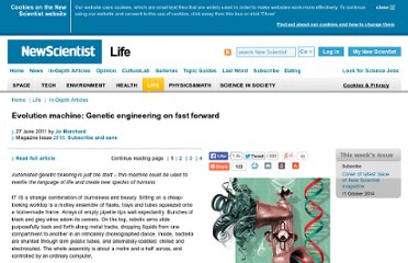http://www.newscientist.com/article/mg21028181.700-evolution-machine-genetic-engineering-on-fast-forward.html