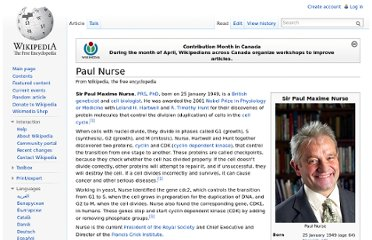 http://en.wikipedia.org/wiki/Paul_Nurse