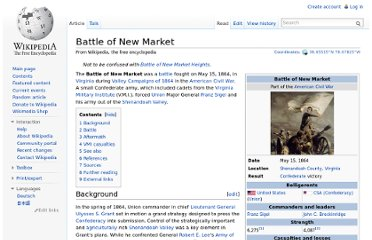 http://en.wikipedia.org/wiki/Battle_of_New_Market