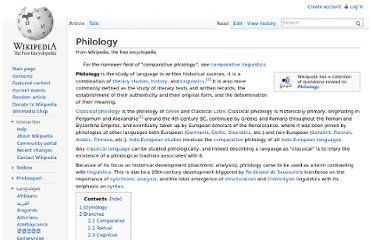 http://en.wikipedia.org/wiki/Philology