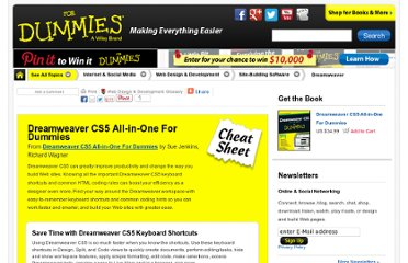 http://www.dummies.com/how-to/content/dreamweaver-cs5-allinone-for-dummies-cheat-sheet.html