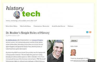 http://historytech.wordpress.com/2011/06/27/dr-bookers-simple-rules-of-history/