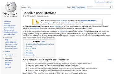 http://en.wikipedia.org/wiki/Tangible_user_interface