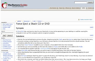 http://guides.macrumors.com/Force_Eject_a_Stuck_CD_or_DVD