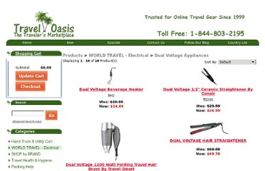 http://traveloasis.com/dual-voltage-appliances.html