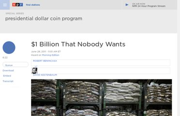 http://www.npr.org/2011/06/28/137394348/-1-billion-that-nobody-wants