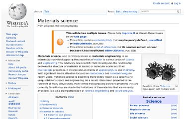 http://en.wikipedia.org/wiki/Materials_science