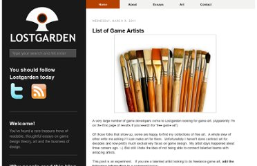http://www.lostgarden.com/2011/03/list-of-game-artists.html#comments