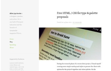 http://elliotjaystocks.com/blog/free-html-css-for-type-palette-proposals/