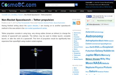 http://astroblog.cosmobc.com/2011/01/11/non-rocket-spacelaunch-tether-propulsion/